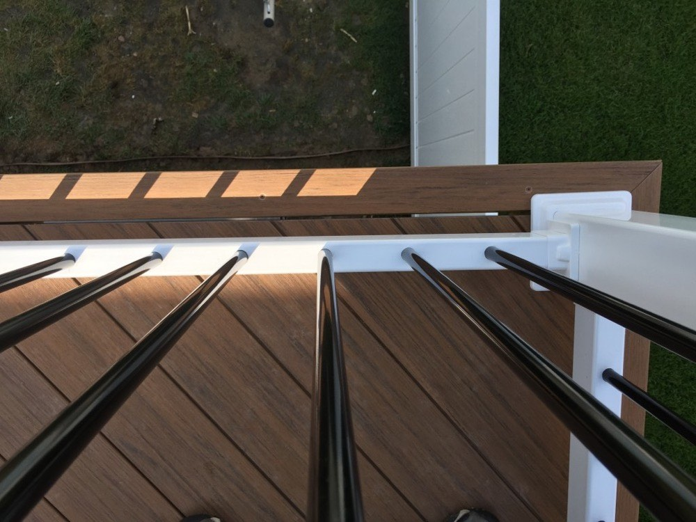 Outdoor Composite Deck Over Spa